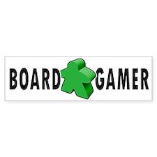 Board Gamer Green Bumper Car Sticker