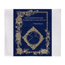 Phan Wish Quote~ Phantom Phantasia Throw Blanket
