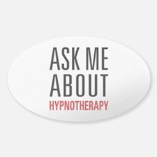 Hypnotherapy - Ask Me About - Sticker (Oval)