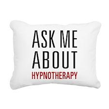 Hypnotherapy - Ask Me Ab Rectangular Canvas Pillow