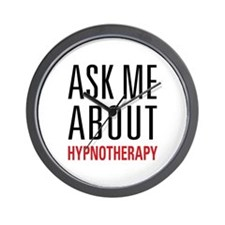 Hypnotherapy - Ask Me About - Wall Clock