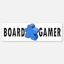 Board Gamer Blue Bumper Bumper Bumper Sticker