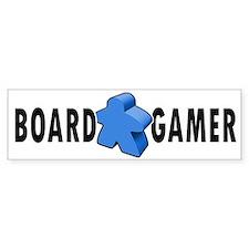 Board Gamer Blue Bumper Bumper Sticker