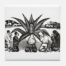 Posada - Milagro - Guadalupe Tile Coaster
