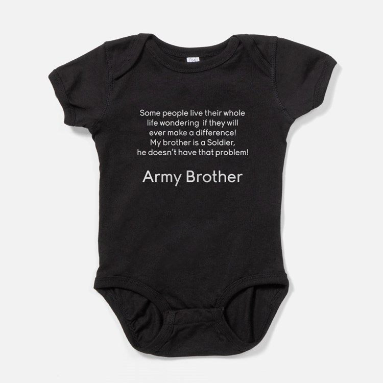 Army Brother No Problem Brother Baby Bodysuit
