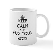 Keep Calm and Hug your Boss Mugs