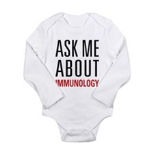 Immunology - Ask Me Ab Long Sleeve Infant Bodysuit