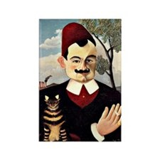 Henri Rousseau - Portrait of Mons Rectangle Magnet