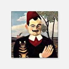 "Henri Rousseau - Portrait o Square Sticker 3"" x 3"""