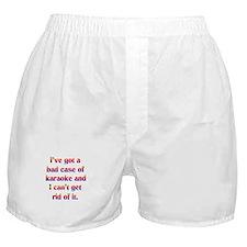 Bad case of karaoke Boxer Shorts