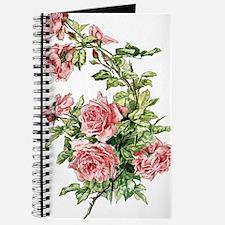 Pretty Pink Vintage Roses Journal
