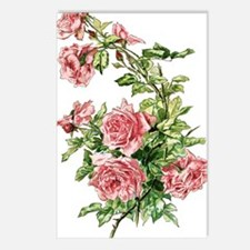 Pretty Pink Vintage Roses Postcards (Package of 8)