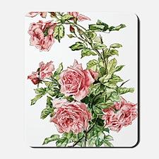Pretty Pink Vintage Roses Mousepad