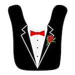 Tuxedo Red Bow Black Bib