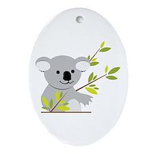 Koala Bear Ornament (Oval)