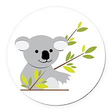 Koala Bear Round Car Magnet