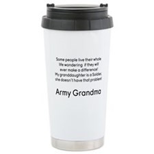 Army Grandma No Problem Granddaughter Travel Mug