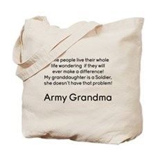 Army Grandma No Problem Granddaughter Tote Bag