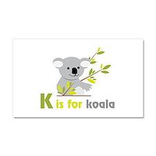 K is For koala Car Magnet 20 x 12