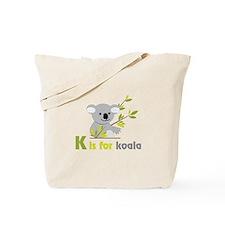 K is For koala Tote Bag
