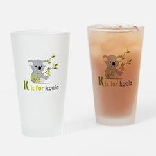K is For koala Drinking Glass