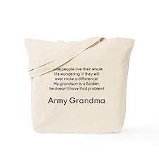 Army Grandma No Problem Grandson Tote Bag