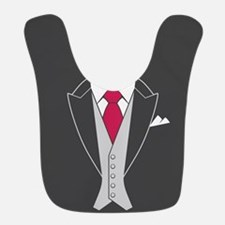 Red Tie Suit Bib