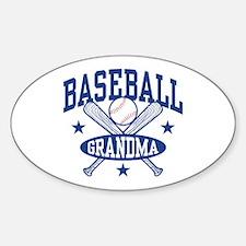 Cute Baseball dodgers Sticker (Oval)