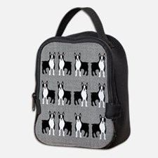 Boston Terrier Neoprene Lunch Bag