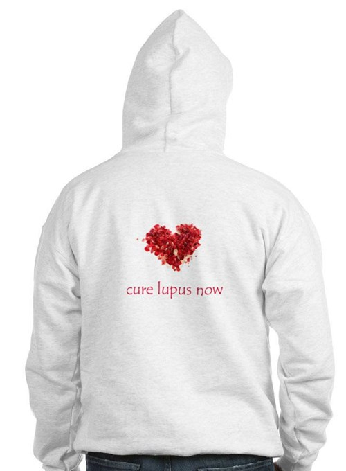 cure lupus now hooded sweatshirt