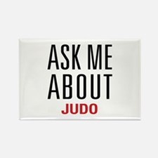 Judo - Ask Me About - Rectangle Magnet