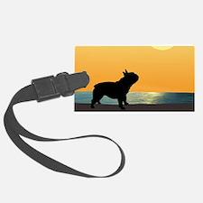 French Bulldog Surfside Sunset Luggage Tag