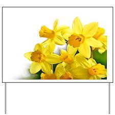Daffodils Style Yard Sign
