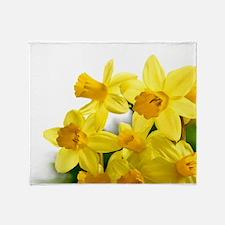 Daffodils Style Throw Blanket