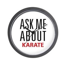 Karate - Ask Me About - Wall Clock