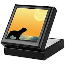 French Bulldog Surfside Sunset Keepsake Box