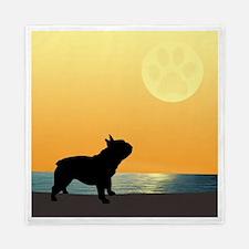 French Bulldog Surfside Sunset Queen Duvet