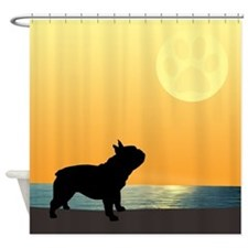 French Bulldog Surfside Sunset Shower Curtain