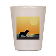 French Bulldog Surfside Sunset Shot Glass