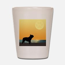 French Bulldog Surfside Sunset Shot Glass