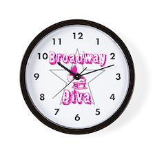 Broadway Diva Wall Clock