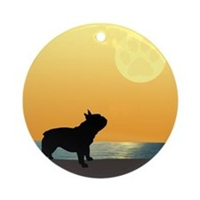 French Bulldog Surfside Sunset Ornament (Round)