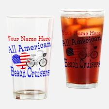 Beach Cruiser Bicycle Drinking Glass