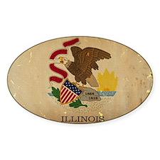 Illinois State Flag VINTAGE Decal
