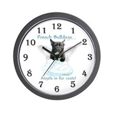Frenchie Angel Wall Clock