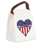 I Love America.png Canvas Lunch Bag