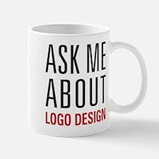 Logo Design - Ask Me About - Mug