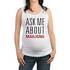 Mahjong - Ask Me About - Maternity Tank Top