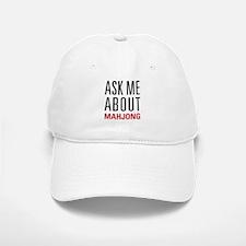 Mahjong - Ask Me About - Baseball Baseball Cap