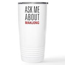 Mahjong - Ask Me About Travel Mug